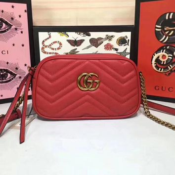 Gucci Women Leather Shoulder Bag Satchel Tote Crossbody