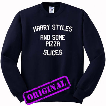 Harry Styles and some pizza slices for Sweater navy, Sweatshirt navy unisex adult