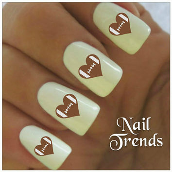 Football Nail Decals 20 Vinyl Stickers Nail Art