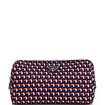 Prada - Multicolor Octagon-Patterned Nylon Cosmetic Bag - Saks Fifth Avenue Mobile