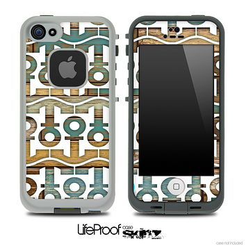 White and Aged Color Wood Anchor Collage Skin for the iPhone 5 or 4/4s LifeProof Case