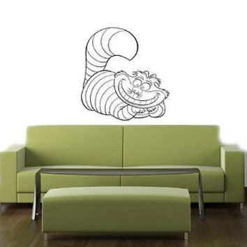 Alice In Wonderland Cheshire Cat Wall Art Decal Sticker 010