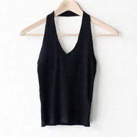 Halter V-neck Top