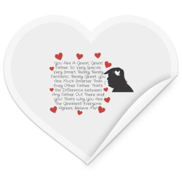 Funny Father's Day Gift For Dad From Wife, Daughter, Son, Stepdaughter, Stepson, Mom, Grandma, Mother In Law ((5)transp backgr TEST STHE Heart Sticker))