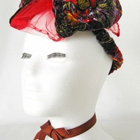 Doll Face Cocktail Hat by Mauvely Roses