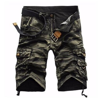 Camouflage Camo Cargo Shorts Mens Mens Casual Shorts Male Loose Work Shorts Man Short Pants Plus Size