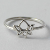 Lotus Ring Beautiful sterling silver ring by HeartCoreDesign