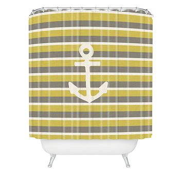 Bianca Green Anchor 2 Shower Curtain