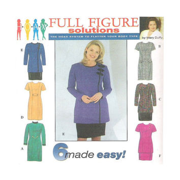 Simplicity Full Figure 7832 Pattern Dress Tunic Skirt Plus Size 6 Made Easy 18W-24W HOAX