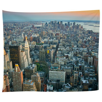 The Big Apple at Sunset Tapestry