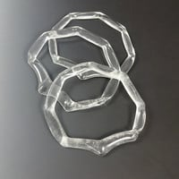 Bangle Bracelets Clear Fluted Edged Recycled Glass