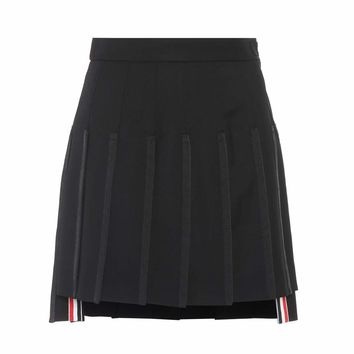 Wool and mohair mini skirt