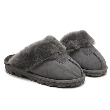 UGG Fashion Women Wool Fur Slippers Shoes