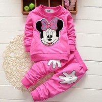CS15  spring autumn baby boy and baby girl clothing set long sleeve hoodies sets Tops+pants 2 pcs baby set baby clothing set