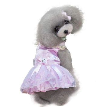 ONETOW Super Deal pet shop dog vestidos dog clothes Summer New dogs pets clothing pink dresses chihuahua ropa para perros XT