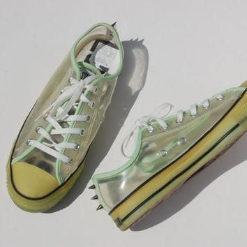 Glow in the Dark Studded Converse Allstars - Hard to Find Rare Chucks - Lo Tops - Rave