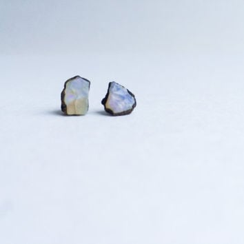 Opal earrings | Opal stud earrings | Opal studs | October Birthstone earrings | October Birthstone jewelry