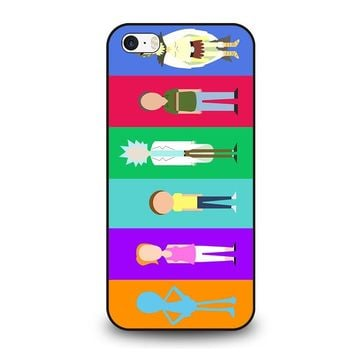 RICK AND MORTY CHARACTER  iPhone SE Case Cover