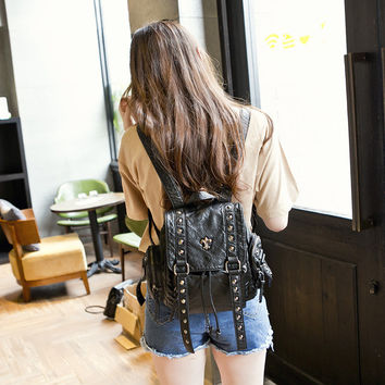Stylish On Sale Comfort Hot Deal Casual College Back To School Korean Leather Bags Backpack [6581904007]