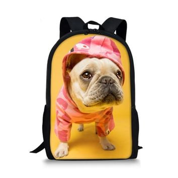 JSB-NO.1 Puppy School Bag Back Pack Anti-lost Kids Baby Bag Cute Animal Dog Children Backpacks Kindergarten School Bag Aged 1-3