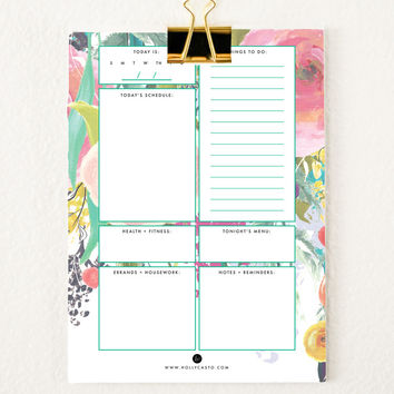 Everyday Planner Sheets   Bright Flowers