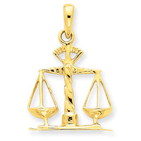 14k Scales of Justice Pendant K1789