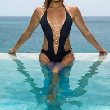 Sauvage Black Plunge One Piece
