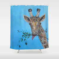 VEGAN Shower Curtain by  RokinRonda