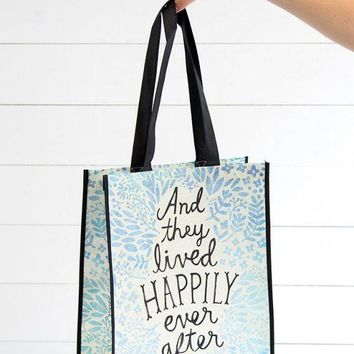And They Lived Happily Ever After Gift Bag (made from recycled water bottles)