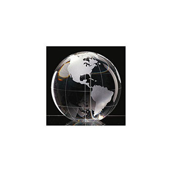 Badash Crystal Clear 3in Globe Paperweight