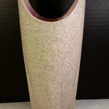 Shawnee Space Age Pottery Pink Speckle Vintage 1950s Shawnee 1023 Art Pottery Vase Mid Century Retro Art Made in USA Shawnee Pottery
