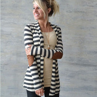 Black and White Stripe Cardigan