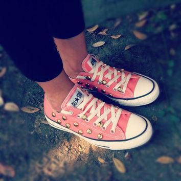 CREYUG7 Studded low top CONVERSE all star shoes
