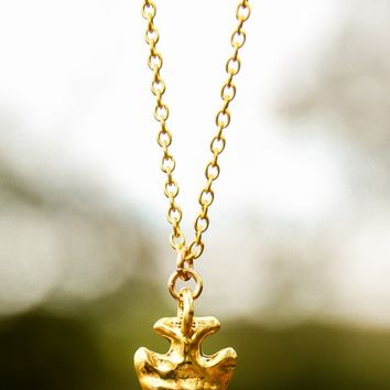 The Point of It All Necklace-Gold