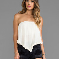 Jen's Pirate Booty Savvy Ruffle Bandeau Top in Natural