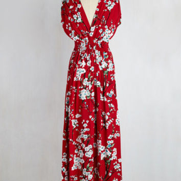Feeling Serene Maxi Dress in Ruby | Mod Retro Vintage Dresses | ModCloth.com