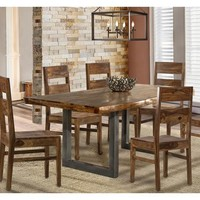 Emerson Rectangle Dining Room Set With Wood Chairs - Natural Sheesham