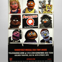 Buy Avenue Q on Broadway Poster | The Broadway Store