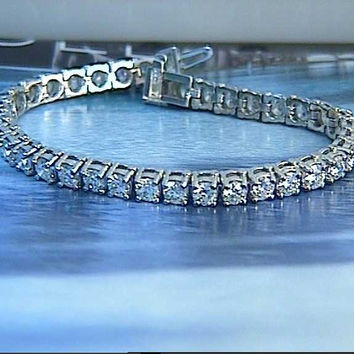 5.15ct Round Diamond Tennis Bracelet JEWELFORME BLUE