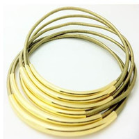 Bracelets-Bangles, Metallic Sage Leather with Gold or Silver Tube Accents- By LEATHER WRAPS