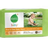 Seventh Generation Baby Wipes Refills, Chlorine Free and Unscented, 70-Count Packs (Pack of 12) (840 Wipes)   deviazon.com