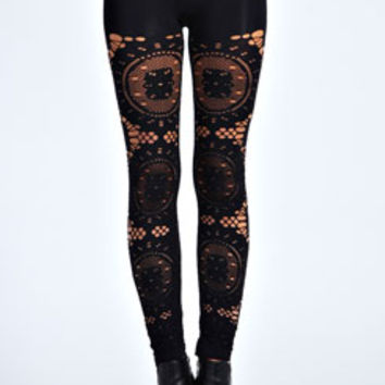Jodie All Over Crochet Leggings
