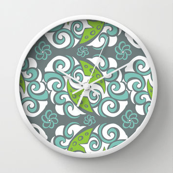 Pretty Pair Wall Clock by Heather Dutton