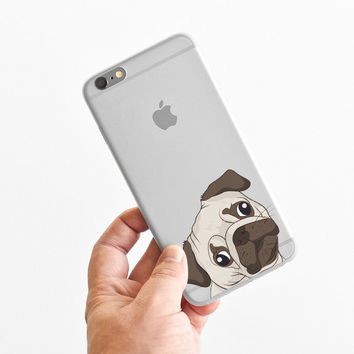 Curious Pug - Cute Pug - Super Slim - Printed Case for iPhone - S019