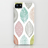 Cute Leaves iPhone Case iPhone & iPod Case by PinkBerryPatterns