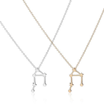 2017 New Libra Zodiac Signs Astrology Necklace Unique Constellation Star Pendant Necklaces for Women Cute Party Necklace -N155