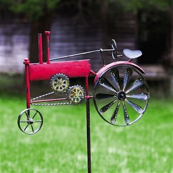SheilaShrubs.com: Vintage Tractor Farm Days Kinetic Garden Stake 491286 by Evergreen Enterprises: Garden Stakes & Balancers