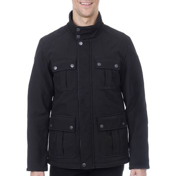 Fleet Street Quilted Softshell Military Jacket
