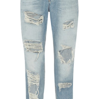 Rag & bone - The Boyfriend distressed low-rise jeans