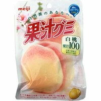 Meiji 100% Juice Gummy -- White Peach